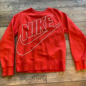 Red Nike Crewneck Sweatshirt